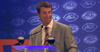 Clemson Football Coach Dabo Swinney Shares Testimony at ACC Kickoff