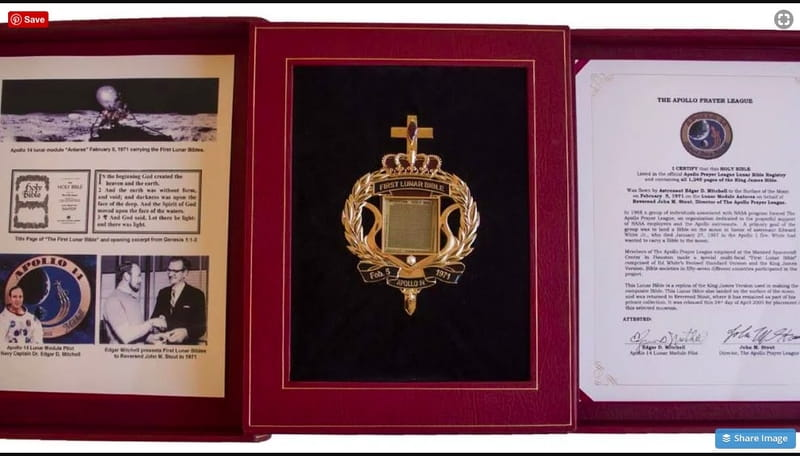 Bidding Starts at $50K for Bible that Went to Moon