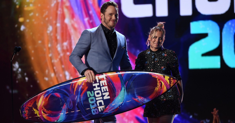 Chris Pratt Shares His Love for God at the Teen Choice Awards