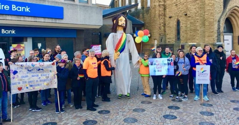 British City Protests Franklin Graham Visit with Giant Rainbow-Colored Jesus