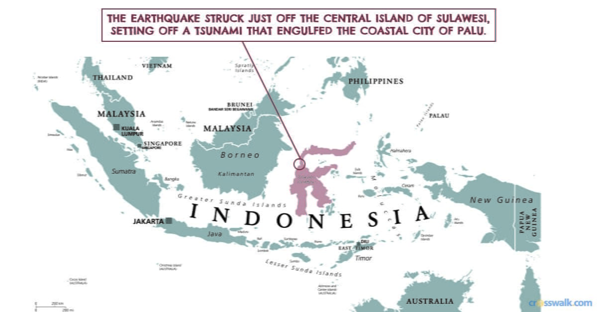 "1. Indonesia is located in a geographical region referred to as the ""Ring of Fire."""