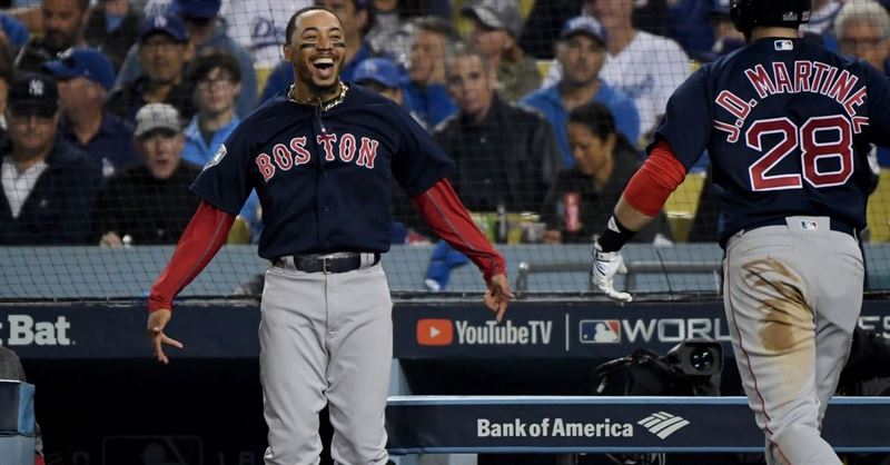 Red Sox Player Mookie Betts Feeds the Homeless after Winning the World Series