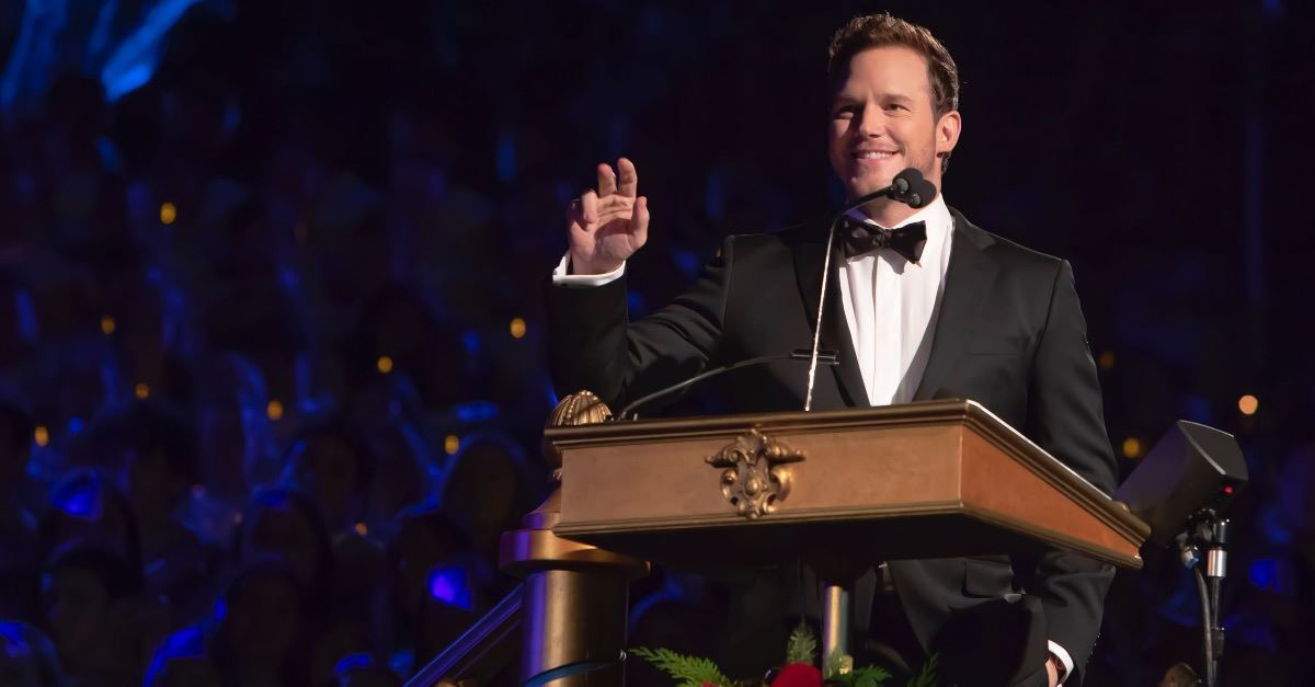 Chris Pratt Gives Impassioned Recitation of the Gospel of Luke at Disneyland's Candlelight Ceremony