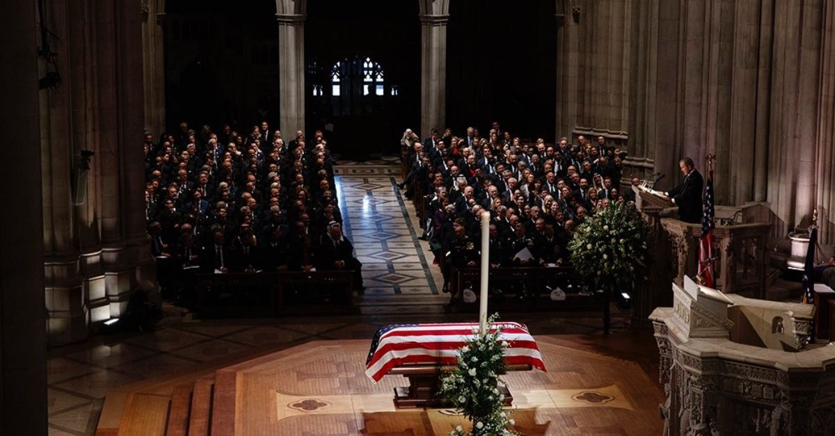 George H.W. Bush's 'Quiet Faith' Remembered at Cathedral Funeral
