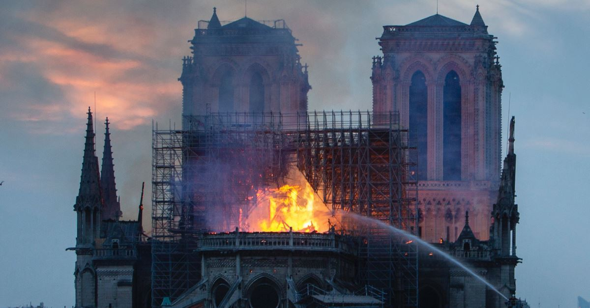 Huge Fire Breaks Out at the Notre Dame Cathedral in Paris