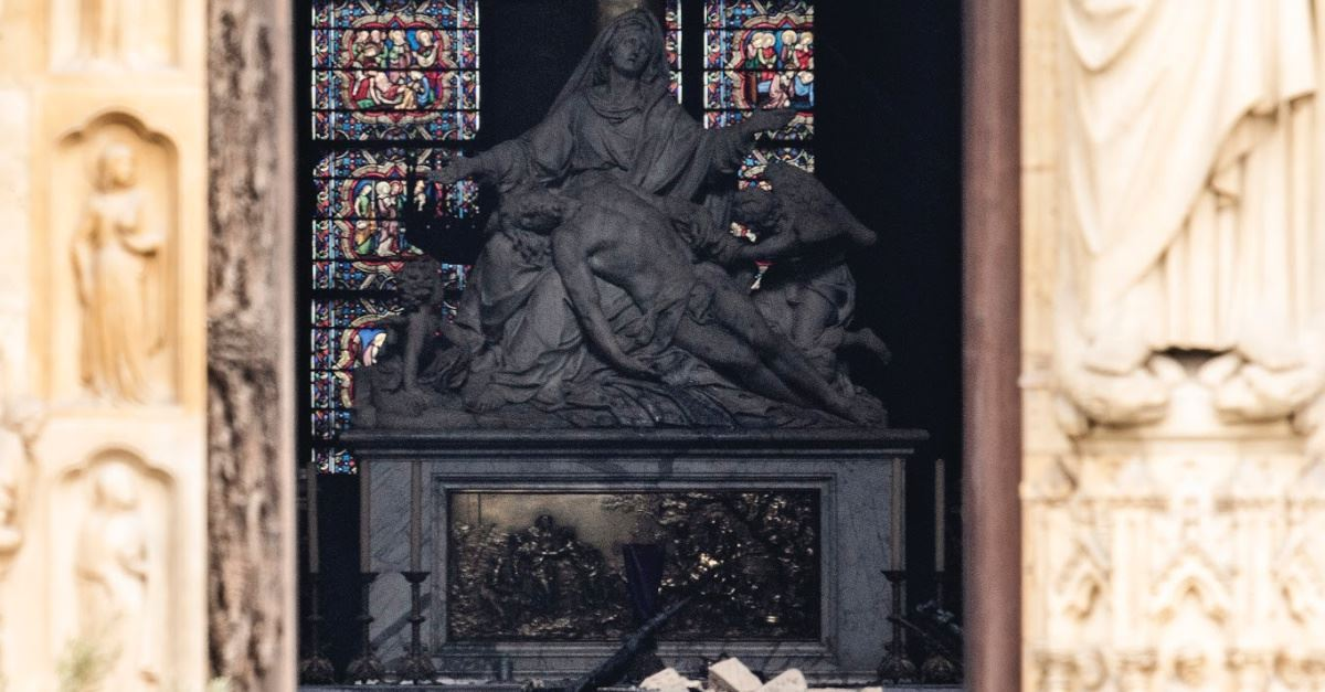 Cross and Crown of Thorns Miraculously Survive Devastating Notre Dame Cathedral Fire