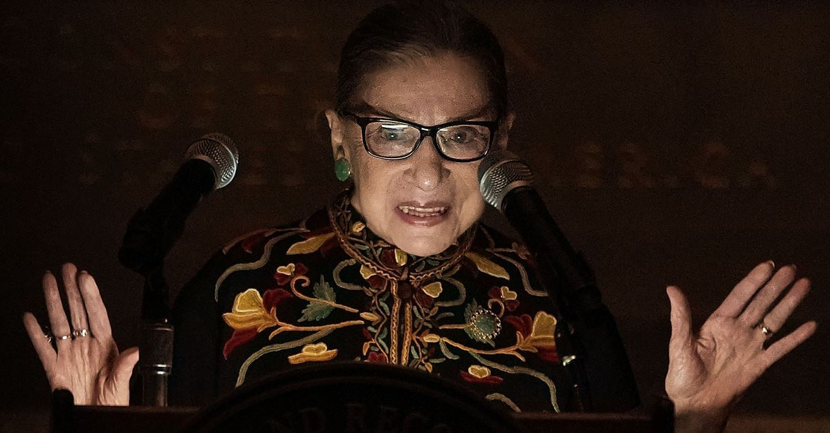 A Pregnant Woman 'Is Not a Mother,' Ruth Bader Ginsburg Asserts