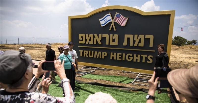 Israel Announces New Golan Heights Settlement Called 'Trump Heights'