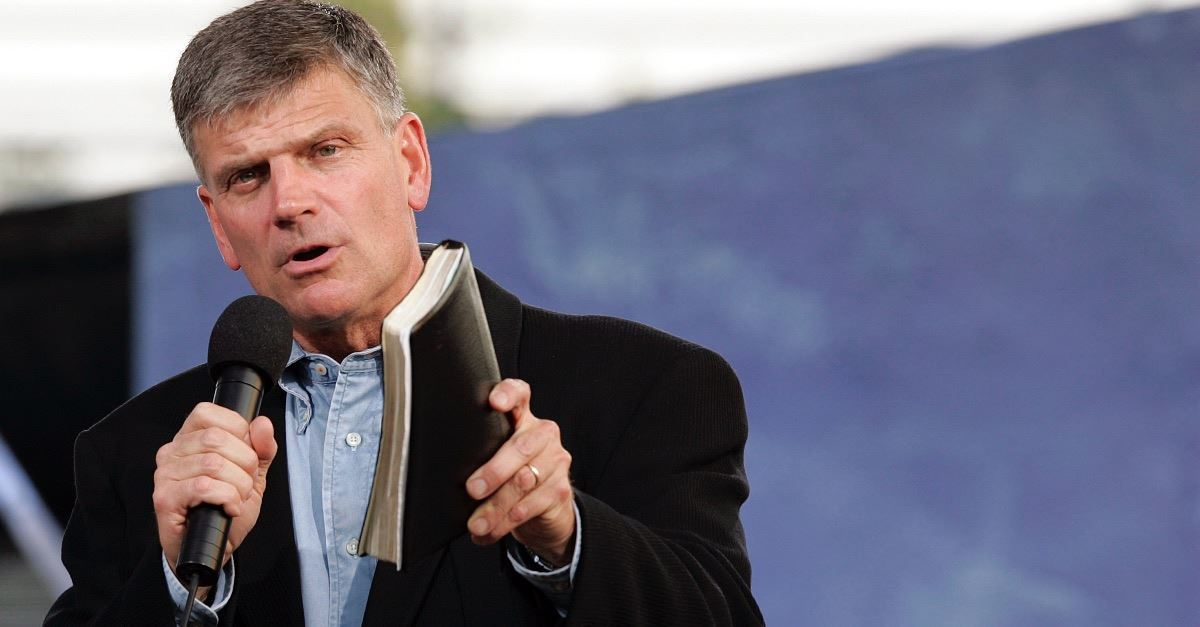 Franklin Graham Speaks Out against the Equality Act, Says it Will Have 'Catastrophic Consequences'