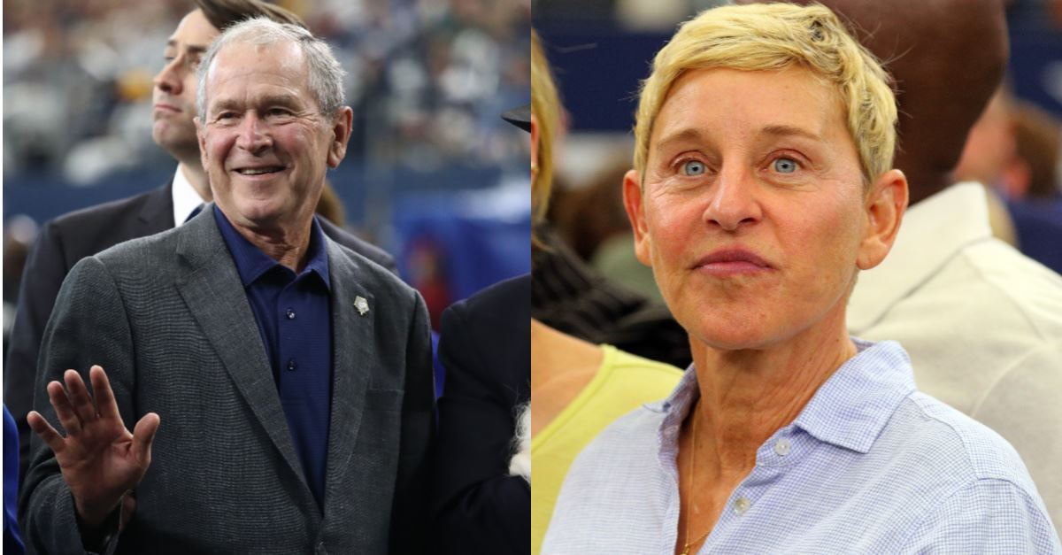 Ellen DeGeneres Faces Backlash for Sitting with George W. Bush, Urges Americans to 'Be Kind to Everyone'