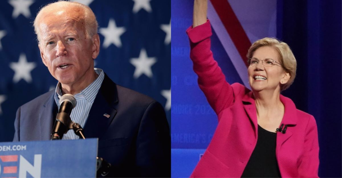 Biden, Warren Pledge to 'Codify' Roe v. Wade into Federal Law
