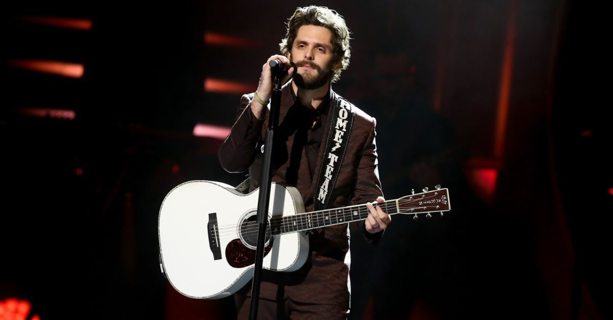 Thomas Rhett Prays during Acceptance Speech at CMT Awards