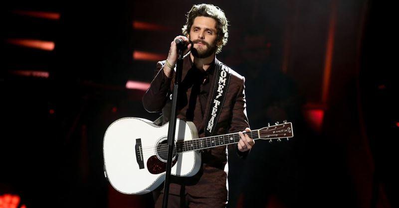 Thomas Rhett Prays during Acceptance Speech at CMT Awards