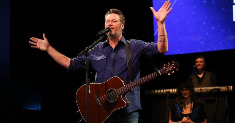 Blake Shelton's New Gospel Song Ranks in Top 10 on Country Music Chart