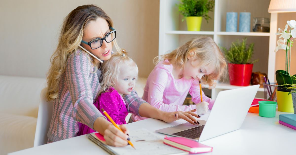 A multi-tasking mom, I'm too busy