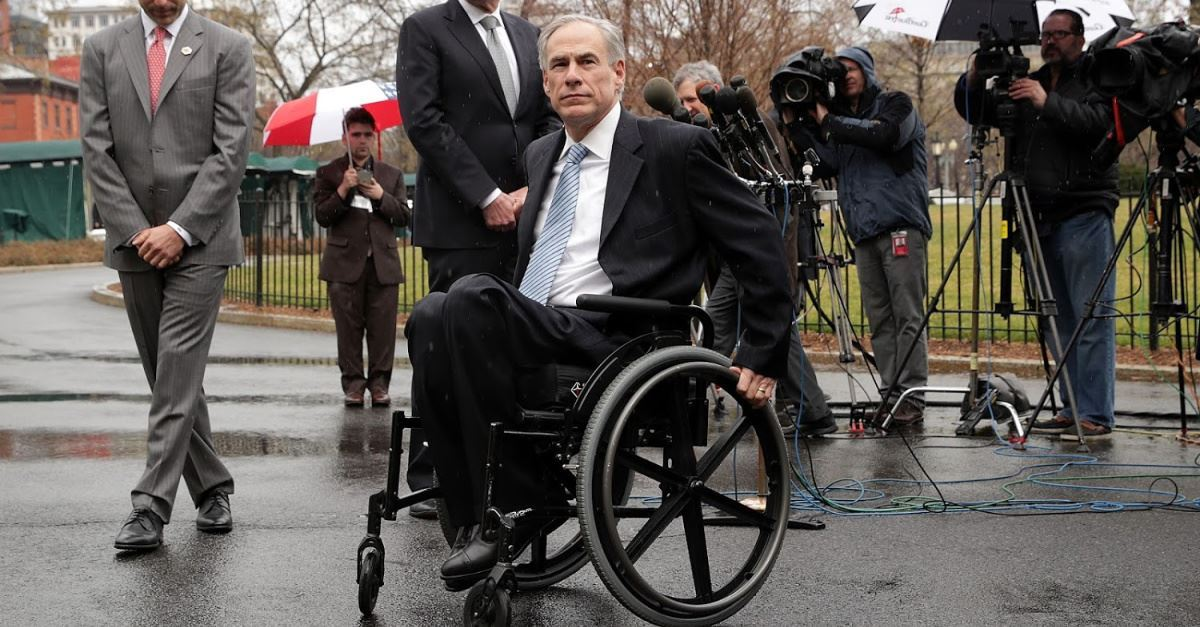 Texas Governor Says 'Glory of God' Was Revealed through His Paralysis