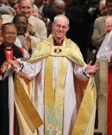 Justin Welby Installed as 105th Archbishop of Canterbury