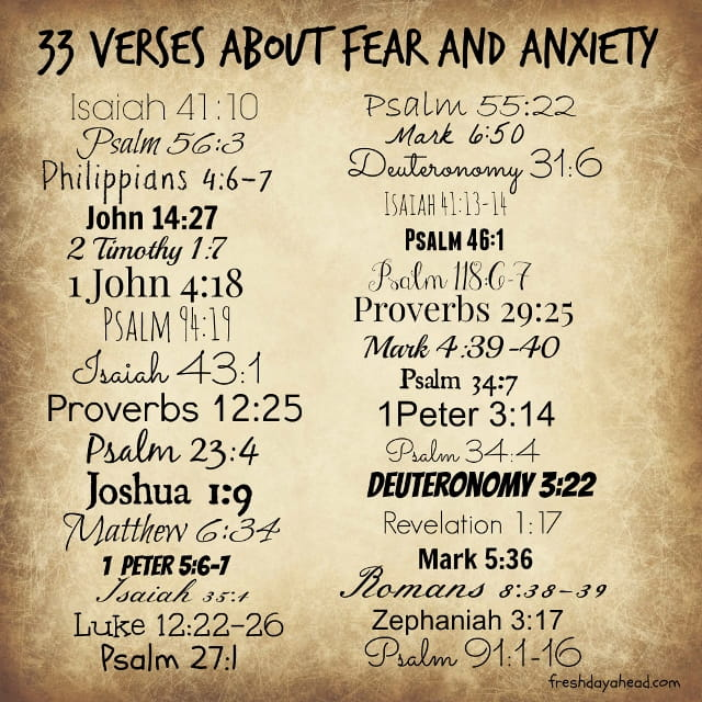 33 Verses About Fear And Anxiety To Remind Us God Is In Control