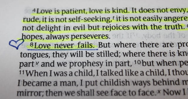 what does the bible say about saying i love you