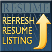 refresh my active resume and bring it to the top of listings