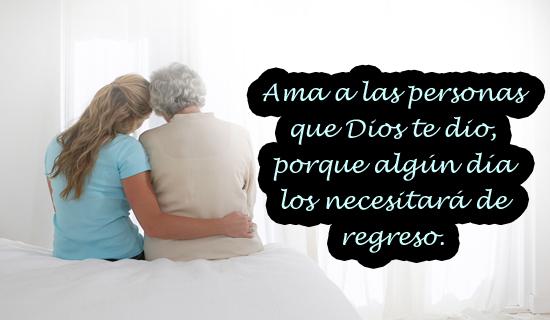 Ama a las personas que Dios te dio...