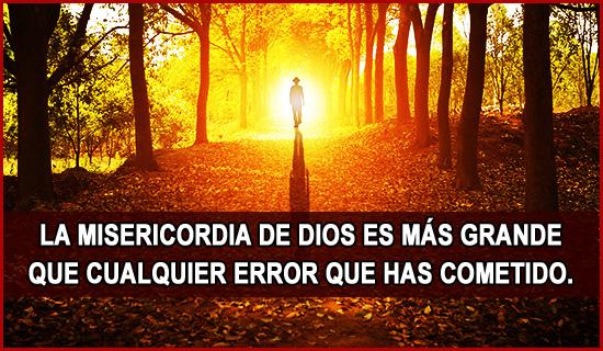 La misericordia de Dios...