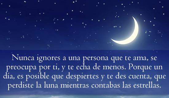 Nunca ignores a una persona que te ama...