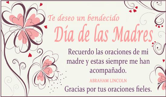 Te deseo un bendecido Día de las Madres