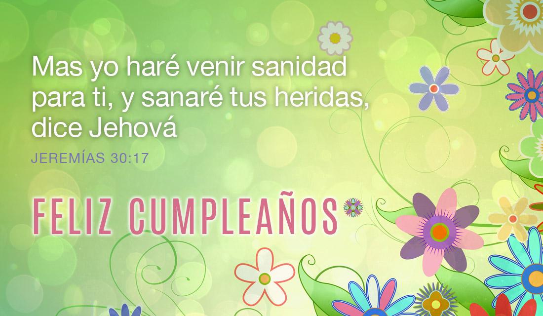 Feliz Cumpleaños Jeremías 30:17