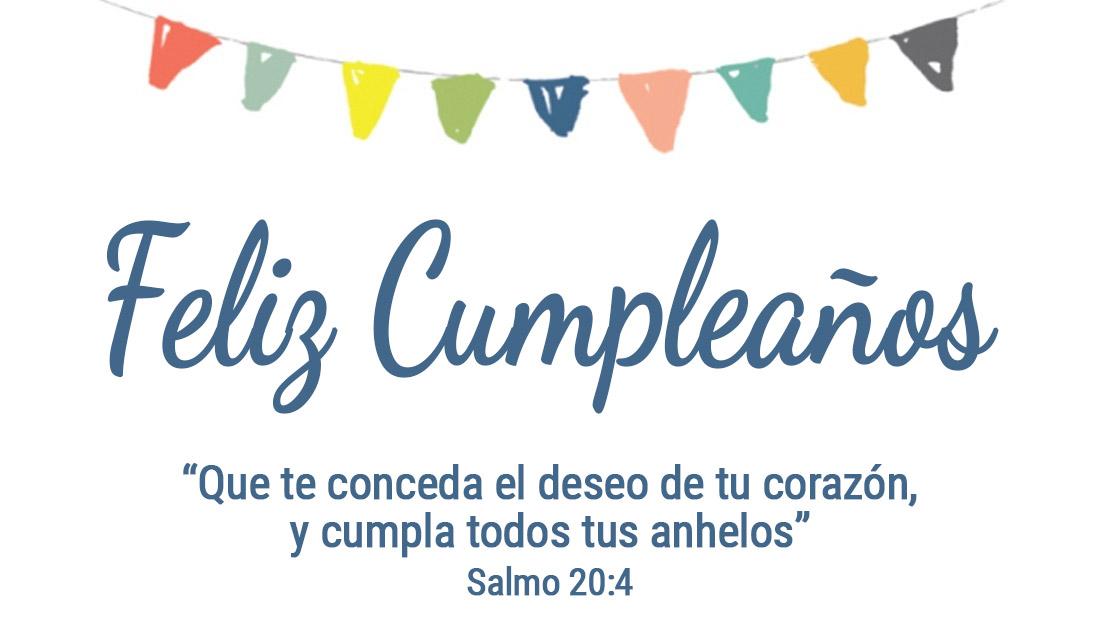 Feliz Cumpleaños Salmo 20:4