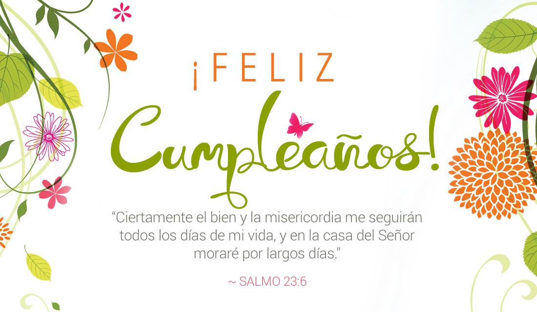 Feliz Cumpleaños Salmo 23:6