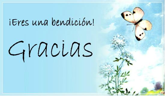 ¡Eres una bendición!