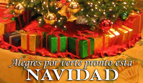 Alegres por verte pronto esta Navidad