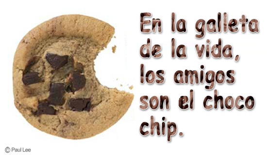 En la galleta de la vida, los amigos son el choco chip.