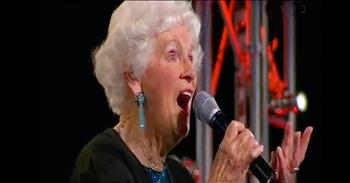 91-Year-Old Lives Out Dream Of Singing On Stage