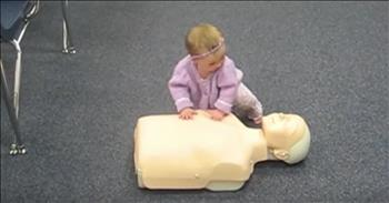 Smart Baby Girl Knows How To Perform CPR