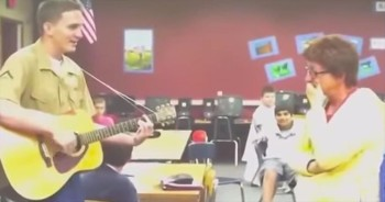 Marine Surprises Mom By Singing Her The Sweetest Song