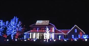 Patriotic Light Display Honors Our Fallen Soldiers - A Memorial Day Tribute