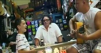 Boy Sings The Blues And Blows Guitar Shop Owner Away