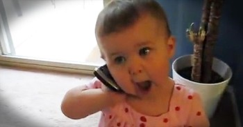 Baby Has Hilarious Phone Conversation With Daddy