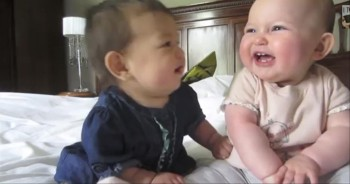 Two Babies Have the World's CUTEST Conversation - Awww