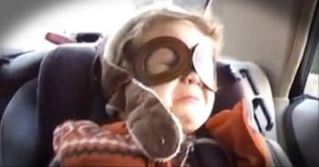 Cute Little Boy Is Overcome with Emotions When His Favorite Song Comes On