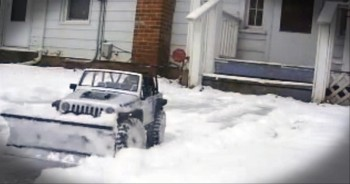 Don't Feel Like Shoveling Snow? Then Buy a Toy Car. :)