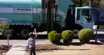 Trash Collector Gives Gift to Boy with Autism. . .So Sweet!