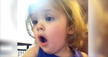 2-Year-Old Gets Emotional Watching Her Parents' Wedding Video