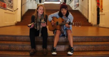 Two Christian Girls Give Glory to the Lord With a Song