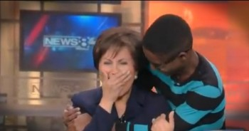 An Adopted Teen Surprises the Person Who Helped Him Find a Family -- On Live TV!