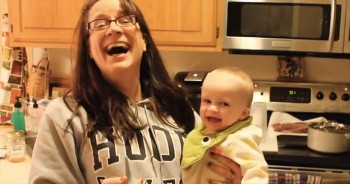 You'll Never Guess What is Making This Baby Giggle So Adorably