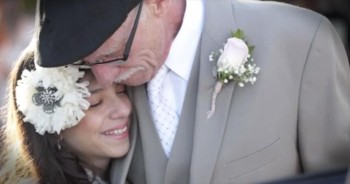 Terminally Ill Dad Walks 11-Year-Old Daughter Down the Aisle In Heartbreaking Ceremony