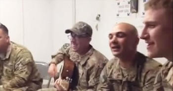 Deployed Soldier Sings Original Song to Daughter Back Home